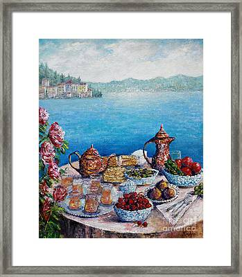 Breakfast In Istanbul Framed Print by Lou Ann Bagnall