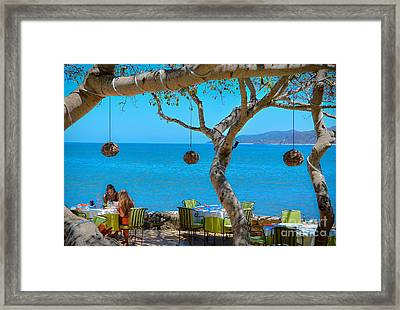Breakfast In Paradise - Villa Amor Framed Print by Amy Fearn