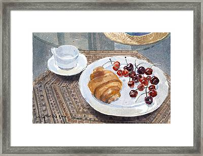 Breakfast In Syria Framed Print by Lucy Willis