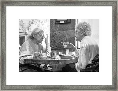 Breakfast Ladies Framed Print