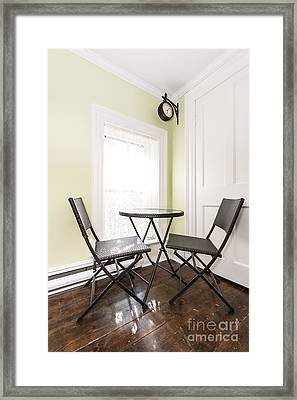Breakfast Nook In Rustic House Framed Print by Elena Elisseeva