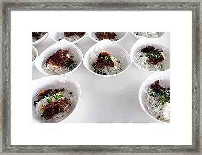 Breakfast Pho Viet Nam Framed Print
