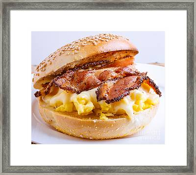 Breakfast Sandwich Framed Print by Edward Fielding