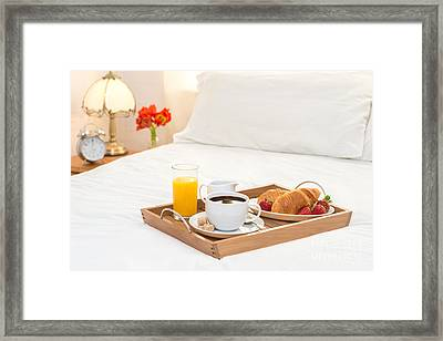 Breakfast Served In Bed Framed Print by Amanda Elwell