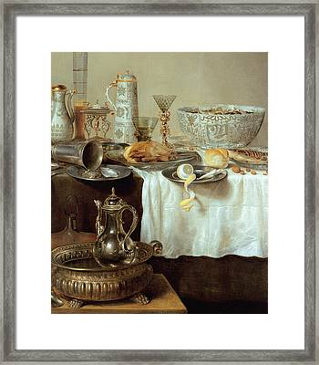 Breakfast Still Life Framed Print by Willem Claesz Heda