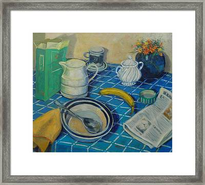 Breakfast Stilllife Framed Print