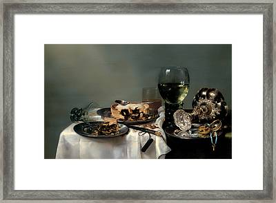 Breakfast Table With Blackberry Pie Framed Print by Mountain Dreams
