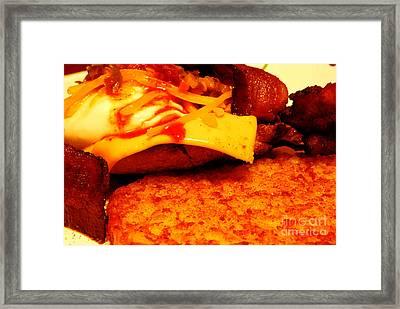 Breakfast Time Framed Print by Nancy Mueller