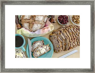 Breakfast With Bread Framed Print by Teri Virbickis