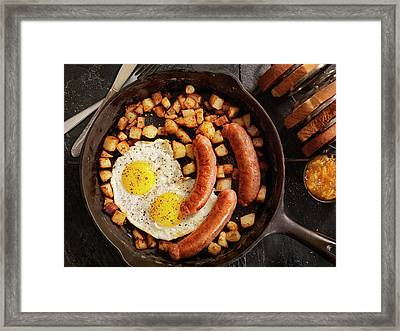 Breakfast With Sunny Side Up Eggs And Framed Print by Lauripatterson