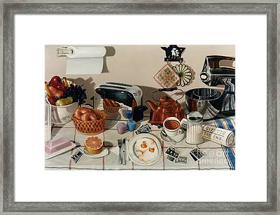 Breakfast With The Beatles - Skewed Perspective Series Framed Print