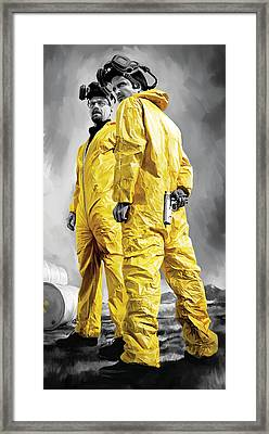 Breaking Bad Artwork Framed Print by Sheraz A