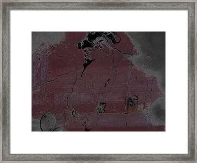 Framed Print featuring the digital art Breaking Bad Concrete Wall by Brian Reaves