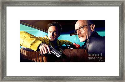 Breaking Bad Framed Print by Paul Tagliamonte