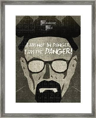 Breaking Bad Walter White Poster Framed Print by Albert Lewis