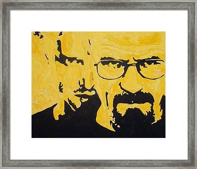 Breaking Bad Yellow Framed Print