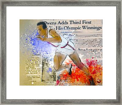 Breaking Barriers Framed Print by Howard Barry