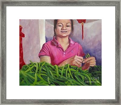 Breaking Beans Framed Print by Katrina West
