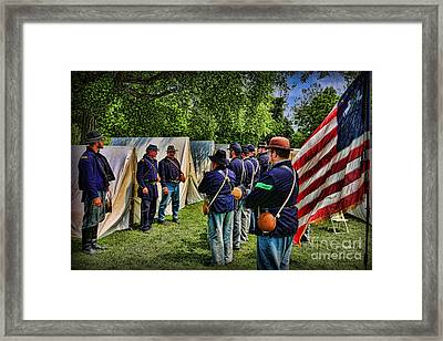 Breaking Camp - Civil War Framed Print