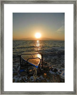Breaking Dawn At The Dead Sea Framed Print by Noreen HaCohen