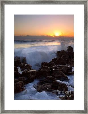 Breaking Dawn Framed Print by Mike  Dawson