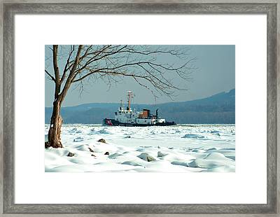 Breaking Ice Framed Print