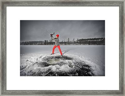 Breaking Ice Of My Soul Framed Print by Roman Rodionov
