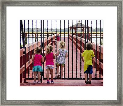 Framed Print featuring the photograph Breaking In by Kathy Ponce