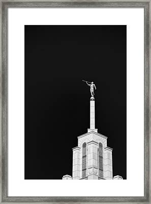 Breaking Into The Dark Framed Print by Tony Maduro