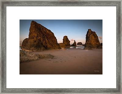 Breaking Light In Bandon Framed Print