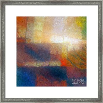 Breaking Light Framed Print