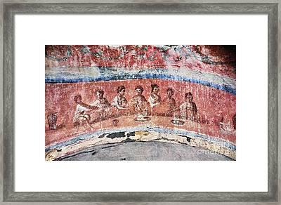 Breaking Of Bread Framed Print by Granger