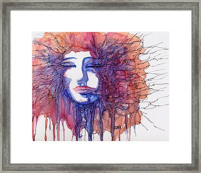 Framed Print featuring the painting Breaking Out Loud by Rebecca Davis