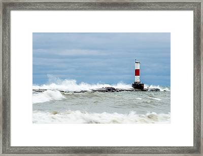 Framed Print featuring the photograph Breaking by Steven Santamour