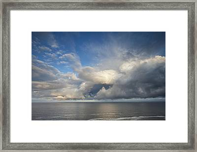 Breaking Storm Clouds Framed Print by Andrew Soundarajan