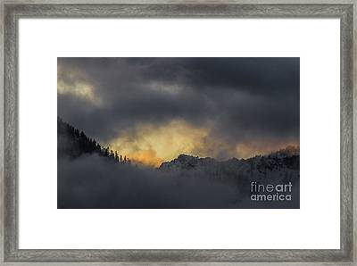 Breaking Storm Framed Print by Mitch Shindelbower