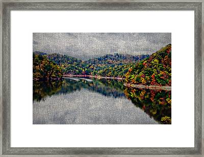 Breaking The Mirrow Framed Print
