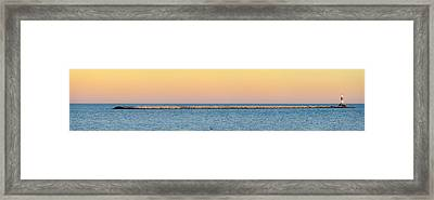 Framed Print featuring the photograph Breaking The Sunset by Steven Santamour