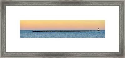 Breaking The Sunset Framed Print