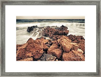 Breaking The Waves Framed Print by Stelios Kleanthous