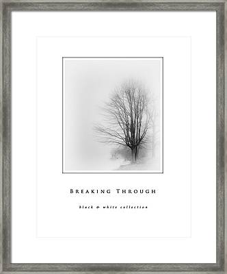 Breaking Through  Black And White Collection Framed Print