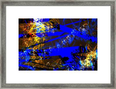 Framed Print featuring the digital art Breaking Through by Lena Wilhite