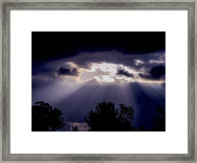 Breaking Through Framed Print by Robert J Andler