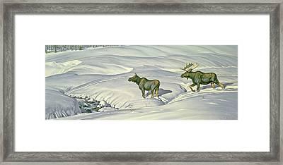 Breaking Trail Framed Print