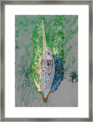 Breaking Water Framed Print by David Lee Thompson
