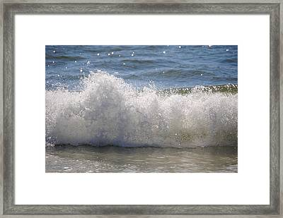 Framed Print featuring the photograph Breaking Wave by Michele Kaiser