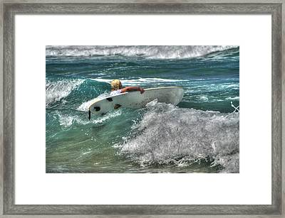 Framed Print featuring the photograph Breaking Waves by Julis Simo