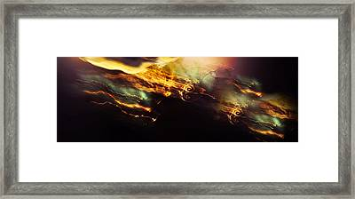 Breakthrough. Empowered By Light Framed Print by Jenny Rainbow