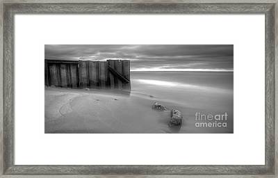 Breakwall In Lake Michigan Framed Print by Twenty Two North Photography