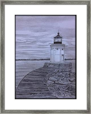 Breakwater Bug Lighthouse Framed Print